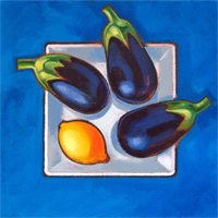 Aubergines and Lemon