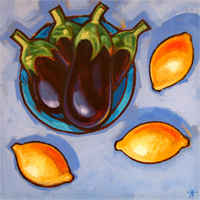 Aubergines and Lemons
